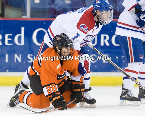 Kevin Crane (Princeton - 28), Maury Edwards (Lowell - 7) - The Princeton University Tigers defeated the University of Massachusetts-Lowell River Hawks 3-2 on Saturday, December 12, 2009, at Tsongas Arena in Lowell, Massachusetts.