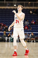 Washington, DC - December 22, 2018: Richmond Spiders forward Noah Yates (24) in action during the DC Hoops Fest between Hampton and Howard at  Entertainment and Sports Arena in Washington, DC.   (Photo by Elliott Brown/Media Images International)