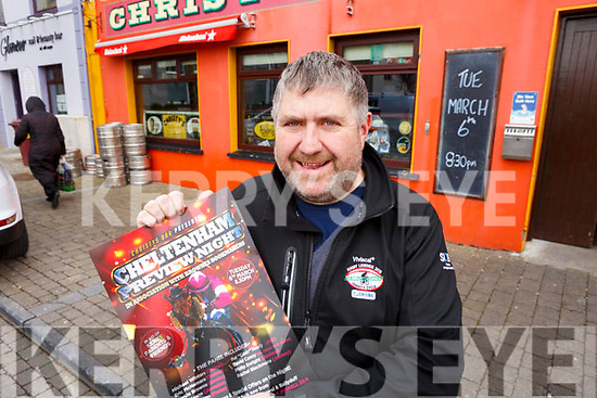 Christy Walsh launching the Cheltenham Racing week at his pub in Listowel on Friday last.