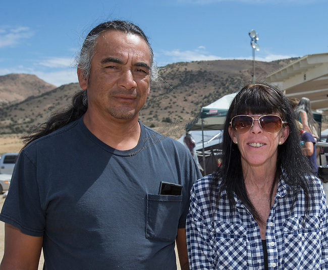 Jose and Nancy from Reno at the Numaga Indian Days Pow Wow in Hungry Valley on Saturday, Sept. 3, 2016.
