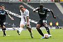 Oumare Tounkara of Stevenage shoots wide<br />  - MK Dons v Stevenage - Sky Bet League One - Stadium MK, Milton Keynes - 28th September 2013. <br /> © Kevin Coleman 2013