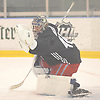 Alexandar Georgiev #40, goalie, practices during New York Rangers Prospect Camp at Madison Square Garden Training Center in Greenburgh, NY on Tuesday, June 26, 2018.