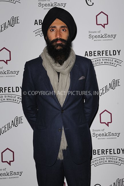 WWW.ACEPIXS.COM<br /> January 28, 2015 New York City<br /> <br /> Waris Ahluwalia attending the 2015 House Of SpeakEasy Gala at City Winery on January 28, 2015 in New York City.<br /> <br /> Please byline: Kristin Callahan/AcePictures<br /> <br /> ACEPIXS.COM<br /> <br /> Tel: (646) 769 0430<br /> e-mail: info@acepixs.com<br /> web: http://www.acepixs.com