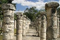 Templo de los Guerreros y de las 1000 Columnas.<br /> Zona arqueologica de Chichen Itza Zona arqueol&oacute;gica  <br /> Chich&eacute;n Itz&aacute;Chich&eacute;n Itz&aacute; maya: (Chich&eacute;n) Boca del pozo; <br /> de los (Itz&aacute;) brujos de agua. <br /> Es uno de los principales sitios arqueol&oacute;gicos de la <br /> pen&iacute;nsula de Yucat&aacute;n, en M&eacute;xico, ubicado en el municipio de Tinum.<br /> *Photo:*&copy;Francisco* Morales/DAMMPHOTO.COM/NORTEPHOTO