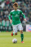 13.04.2019, Weserstadion, Bremen, GER, 1.FBL, Werder Bremen vs SC Freiburg<br /> <br /> DFL REGULATIONS PROHIBIT ANY USE OF PHOTOGRAPHS AS IMAGE SEQUENCES AND/OR QUASI-VIDEO.<br /> <br /> im Bild / picture shows<br /> Yuya Osako (Werder Bremen #08), <br /> <br /> Foto &copy; nordphoto / Ewert