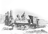 3/4 fireman's-side view of D&amp;RG Ten-Wheeler #160 somewhere in the snow.<br /> D&amp;RG