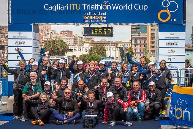 08/05/2016 - ITU staff at 2016 Cagliari ITU Triathlon World Cup -