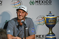 Dustin Johnson (USA) answers questions at the press conference following round 4 of the World Golf Championships, Mexico, Club De Golf Chapultepec, Mexico City, Mexico. 2/24/2019.<br /> Picture: Golffile | Ken Murray<br /> <br /> <br /> All photo usage must carry mandatory copyright credit (© Golffile | Ken Murray)