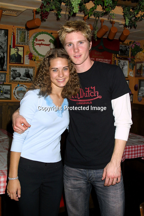 © 2003 KATHY HUTCHINS / HUTCHINS PHOTO.LYNDSY FONSECA SWEET 16 BIRTHDAY PARTY.Buca di Beppo Resturant.ENCINO, CA.JANUARY 7, 2003..LYNDSY FONSECA .THAD LUCKINBILL