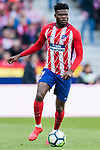 Thomas Teye Partey of Atletico de Madrid in action during the La Liga 2017-18 match between Atletico de Madrid and Athletic de Bilbao at Wanda Metropolitano  on February 18 2018 in Madrid, Spain. Photo by Diego Souto / Power Sport Images