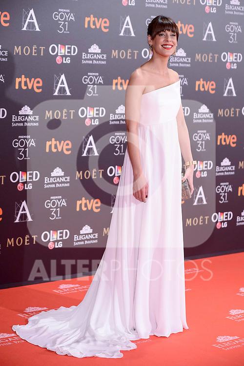 Belen Cuesta attends to the Red Carpet of the Goya Awards 2017 at Madrid Marriott Auditorium Hotel in Madrid, Spain. February 04, 2017. (ALTERPHOTOS/BorjaB.Hojas)