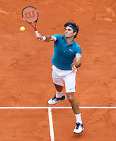 Roger Federer (SUI) (1) against Stanlinas Wawrinka (SUI) (20) in the third round of the men's singles. Roger Federer beat Stanlinas Wawrinka 6-3 7-6 6-2..Tennis - French Open - Day 8 - Sun 30 May 2010 - Roland Garros - Paris - France..© FREY - AMN Images, 1st Floor, Barry House, 20-22 Worple Road, London. SW19 4DH - Tel: +44 (0) 208 947 0117 - contact@advantagemedianet.com - www.photoshelter.com/c/amnimages