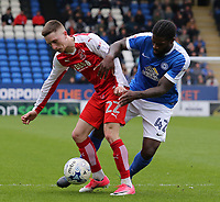 Fleetwood Town's Ashley Hunter battles with Peterborough United's Anthony Grant<br /> <br /> Photographer David Shipman/CameraSport<br /> <br /> The EFL Sky Bet League One - Peterborough United v Fleetwood Town - Friday 14th April 2016 - ABAX Stadium  - Peterborough<br /> <br /> World Copyright &copy; 2017 CameraSport. All rights reserved. 43 Linden Ave. Countesthorpe. Leicester. England. LE8 5PG - Tel: +44 (0) 116 277 4147 - admin@camerasport.com - www.camerasport.com