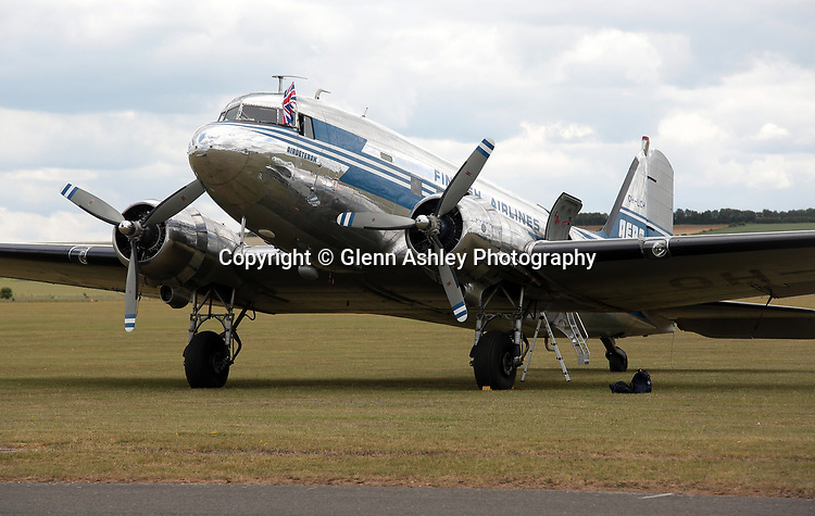 Douglas C-53C Skytrooper, OH-LCH, at the 75th Anniversary of the D-Day Landings, Duxford, United Kingdom, 5th June 2019. Photo by Glenn Ashley Photography