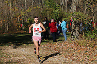 Herculaneum's Tristan Mock runs to a first-place finish in the Class 2 District 1 race.