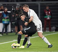 Marcos Acuna (Argentinien, Argentina) gegen Lukas Klostermann (Deutschland Germany) - 09.10.2019: Deutschland vs. Argentinien, Signal Iduna Park, Freunschaftsspiel<br /> DISCLAIMER: DFB regulations prohibit any use of photographs as image sequences and/or quasi-video.