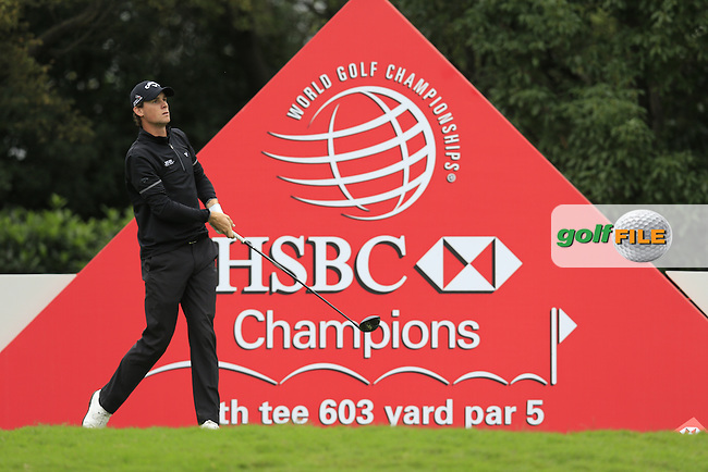 Thomas Pieters (BEL) on the 8th during round 3 of the WGC-HSBC Champions, Sheshan International GC, Shanghai, China PR.  29/10/2016<br /> Picture: Golffile | Fran Caffrey<br /> <br /> <br /> All photo usage must carry mandatory copyright credit (&copy; Golffile | Fran Caffrey)