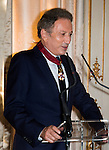 "Michel Drucker  at the ceremony who he was awarded at  the title of Commander of the Order of the Crowne at the Palace Egmont"" at Brussels, 2014 in Brussels, Belgium."