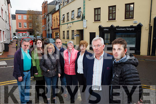 Local residents and business people worried about the anti social behaviour in the are due to Arlington Lodge, Tim Moynihan, Celine Moloney, Breda Lyons, Stewart Lyons, Anne O'Donnell,  Breda Lyons, Kieran Ruttledge and Conor O'Donnell, pictured on Tuesday afternoon last.