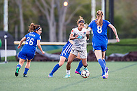 Boston, MA - Sunday May 07, 2017: Jessica McDonald during a regular season National Women's Soccer League (NWSL) match between the Boston Breakers and the North Carolina Courage at Jordan Field.