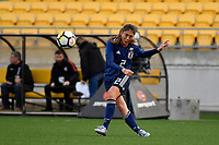 Japan&rsquo;s Rumi Utsugi in action during the  International Football - Football Ferns v Japan  at Westpac Stadium, Wellington, New Zealand on Sunday 10 June 2018.<br /> Photo by Masanori Udagawa. <br /> www.photowellington.photoshelter.com