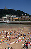 La Concha beach with Town Hall and Monte Urgull in San Sebastián (basque: Donostia), main city of the province Guipúzcoa, Basque Country, Northern Spain<br /> <br /> Playa La Concha con el Ayuntamiento y Monte Urgull  en San Sebastián (eus.: Donostia), la capital de la provincia de Guipúzcoa (eusk.: Gipuzkoa), País Vasco (eus.: Euskadi), Norte de España<br /> <br /> Strand La Concha mit Rathaus und dem Berg Urgull in San Sebastian (bask.: Donostia), Hauptstadt der Provinz Guipúzcoa, Baskenland, Nordspanien<br /> <br /> 3917 x 2506 px<br /> Original: 35 mm slide transparency