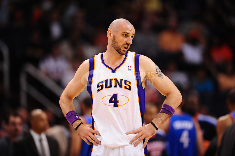 Mar. 30, 2011; Phoenix, AZ, USA; Phoenix Suns center (4) Marcin Gortat against the Oklahoma City Thunder at the US Airways Center. Mandatory Credit: Mark J. Rebilas-.