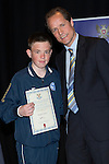 St Johnstone FC Youth Academy Presentation Night at Perth Concert Hall..21.04.14<br /> Alec Cleland presents to Argyle Cairns<br /> Picture by Graeme Hart.<br /> Copyright Perthshire Picture Agency<br /> Tel: 01738 623350  Mobile: 07990 594431