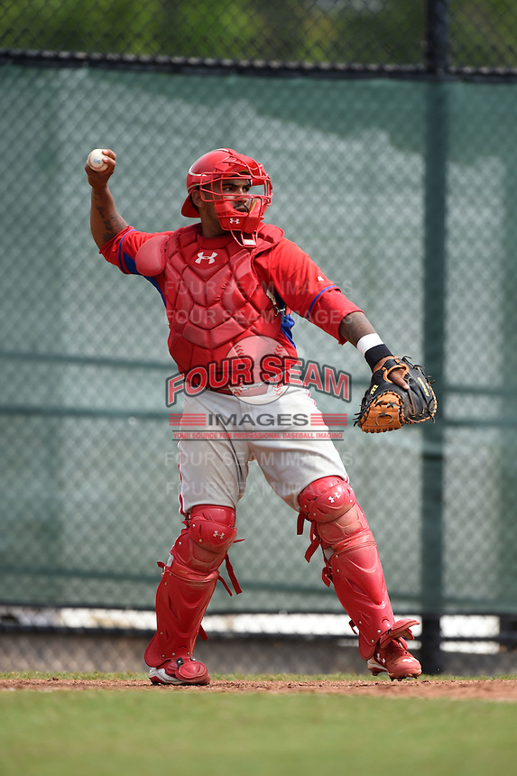 Philadelphia Phillies Deivi Grullon (10) during a minor league spring training intrasquad game on March 27, 2015 at the Carpenter Complex in Clearwater, Florida.  (Mike Janes/Four Seam Images)