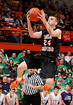 RAPID CITY, S.D. MARCH 20, 2015 -- Ty Hoglund #24 of Dell Rapids flies for a layup against Winner during their semi-final game at the 2015 South Dakota State A Boys Basketball Tournament at the Don Barnett Arena in Rapid City, S.D.  (Photo by Dick Carlson/Inertia)