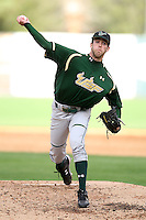 March 2, 2010:  Pitcher Matt Quevedo of the South Florida Bulls during a game at Legends Field in Tampa, FL.  Photo By Mike Janes/Four Seam Images