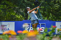 Cheyenne Woods (USA) watches her tee shot on 13 during round 2 of the 2018 KPMG Women's PGA Championship, Kemper Lakes Golf Club, at Kildeer, Illinois, USA. 6/29/2018.<br /> Picture: Golffile | Ken Murray<br /> <br /> All photo usage must carry mandatory copyright credit (&copy; Golffile | Ken Murray)