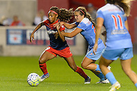 Chicago, IL - Saturday Sept. 24, 2016: Crystal Dunn, Danielle Colaprico during a regular season National Women's Soccer League (NWSL) match between the Chicago Red Stars and the Washington Spirit at Toyota Park.