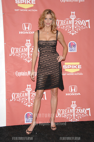 """Tricia Helfer at Spike TV's """"Scream 2007"""" Awards honoring the best in horror, sci-fi, fantasy & comic genres, at the Greak Theatre, Hollywood..October 20, 2007  Los Angeles, CA.Picture: Paul Smith / Featureflash"""