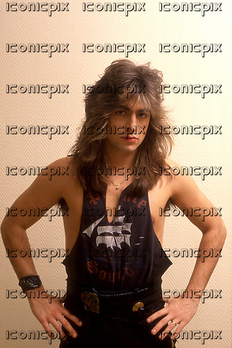 VICTORY - vocalist Fernando Garcia - Photosession in Hamburg Germany - 1990.  Photo credit: George Chin/IconicPix