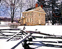 George Washington's Headquarters in Winter, Valley Forge National Historical Park, Pennsylvania