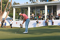 Wade Ormsby (AUS) on the 18th green during Round 4 of the UBS Hong Kong Open, at Hong Kong golf club, Fanling, Hong Kong. 26/11/2017<br /> Picture: Golffile | Thos Caffrey<br /> <br /> <br /> All photo usage must carry mandatory copyright credit     (&copy; Golffile | Thos Caffrey)