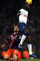 Davinson Sanchez of Tottenham Hotspur and David Silva of Manchester City during Tottenham Hotspur vs Manchester City, Premier League Football at Wembley Stadium on 29th October 2018
