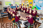 """Senior students from Knockaclarig National School under the guidance of woodcarver John Murphy are taking part in a wood carving programe entitled """"Crafted Project""""."""