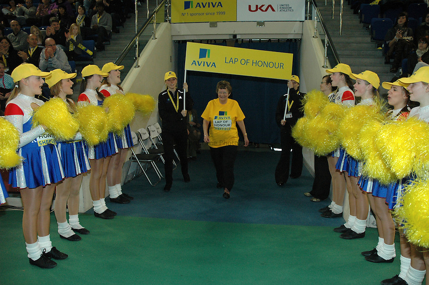 Photo: Tony Oudot/Richard Lane Photography. Aviva World Trials & UK Championships. 14/02/2010. .Lap of Honour Winner Sheila Bolland.