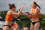 08.05.2015, Muenster, Schlossplatz<br /> smart beach tour, Supercup MŸnster / Muenster, Qualifikation<br /> <br /> Jubel Anne Friedrich, Anne Matthes<br /> <br />   Foto &copy; nordphoto / Kurth