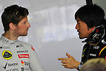 Romain Grosjean (FRA) Lotus Renault F1 Team<br />  Foto &copy; nph / Mathis