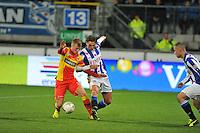 VOETBAL: ABE LENSTRA STADION: HEERENVEEN: 30-11-2013, SC Heerenveen - Go Ahead Eagles, uitslag 3-1, Jeffrey Rijsdijk (#10 | GAE), Mitchell Dijks (#3 | SCH), ©foto Martin de Jong