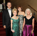 From left: David Wuthrich, Margaret Alkek Williams, Vicki West and Janet F. Clark at the Houston Symphony's opening night at Jones Hall Saturday Sept. 12,2015.(Dave Rossman photo)