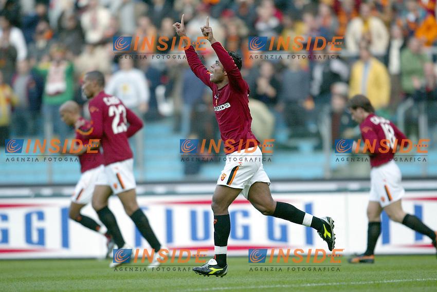 Roma 30/11/2003 <br /> Roma Lecce 3-1<br /> AMANTINO MANCINI (Roma) festeggia il primo gol della Roma<br /> AMANTINO MANCINI (Roma) celebrates first goal for Roma<br /> Foto Andrea Staccioli Insidefoto
