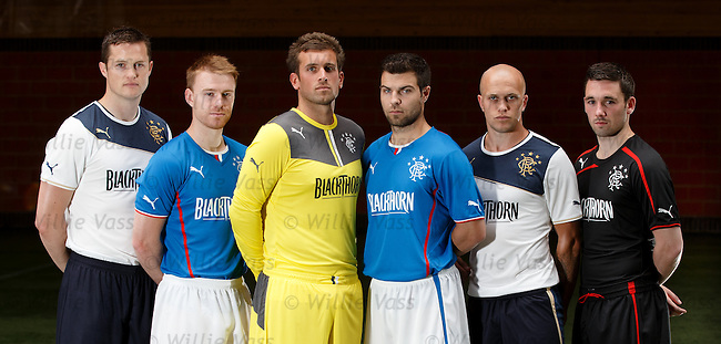 Rangers Puma kit launch:<br /> Jon Daly, Stevie Smith, Cammy Bell, Richard Foster, Nicky Law and Nicky Clark
