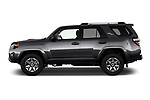 Car driver side profile view of a 2018 Toyota 4Runner Off-Road 5 Door SUV