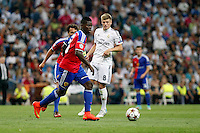 Toni Kroos of Real Madrid and of FC Basel 1893 during the Champions League group B soccer match between Real Madrid and FC Basel 1893 at Santiago Bernabeu Stadium in Madrid, Spain. September 16, 2014. (ALTERPHOTOS/Caro Marin) /NortePhoto.com