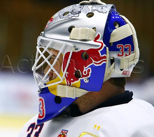 August 11th 2017, Olympia Ice Rink, Garmisch-Partenkirchen, Germany; Red Bull Salute Ice Hockey; Red Bull Munich versus SC Bern; goalkeeper Danny BIRKEN (Mun)
