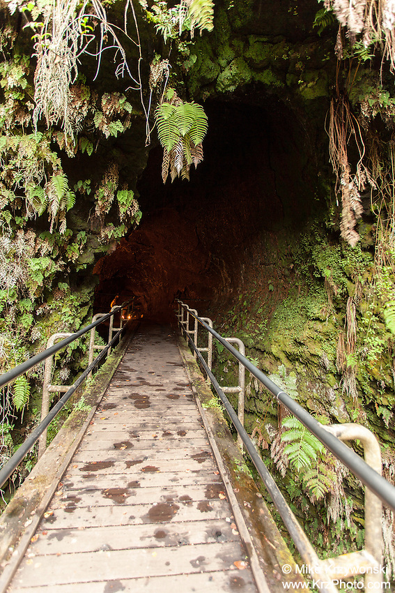 Entrance to Thurston Lava Tube in Hawaii Volcanoes National Park, Big Island, Hawaii